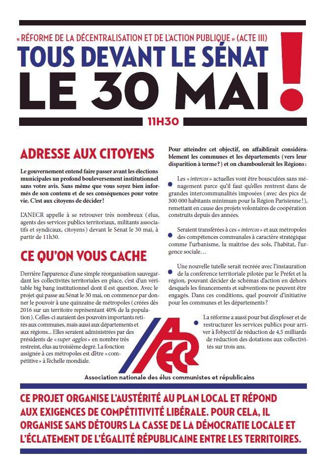 ADECR 59 : Initiative ANECR - 30 MAI - SENAT dans CHANGER LA SOCIETE senat